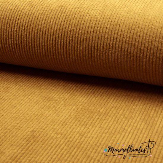 REST!  1,3m Baumwollcord - Stretch - Senf