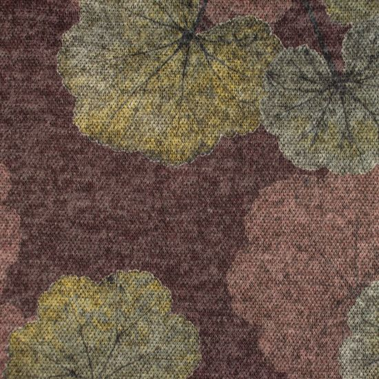 Strickstoff - Brushed Leaves - Berry
